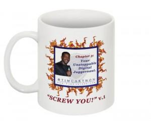 """""""SCREW YOU!"""" v.1 Book, Chapter 3 Mug (Front)"""