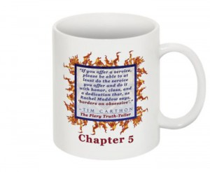 """""""SCREW YOU!"""" v.1 Book, Chapter 5 Mug (Back)"""