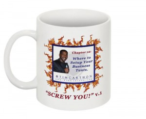 """""""SCREW YOU!"""" v.1 Book, Chapter 12 Mug (Front)"""