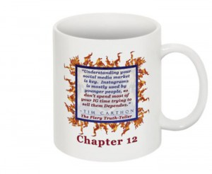 """""""SCREW YOU!"""" v.1 Book, Chapter 12 Mug (Back)"""