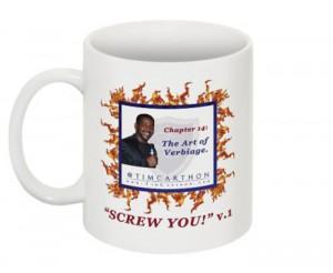 """""""SCREW YOU!"""" v.1 Book, Chapter 14 Mug (Front)"""