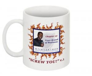 """""""SCREW YOU!"""" v.1 Book, Chapter 15 Mug (Front)"""
