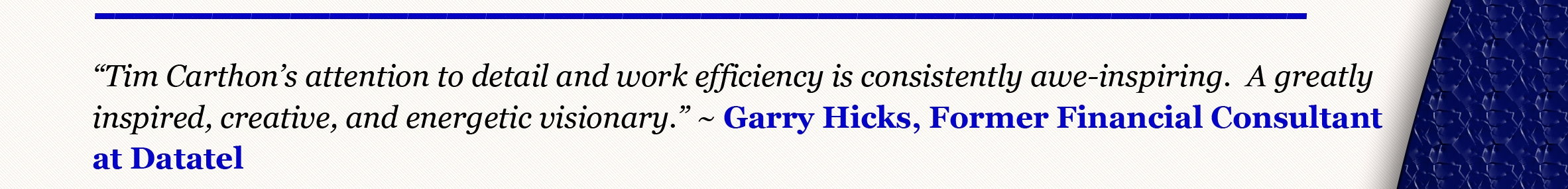 Garry Hick's Quote